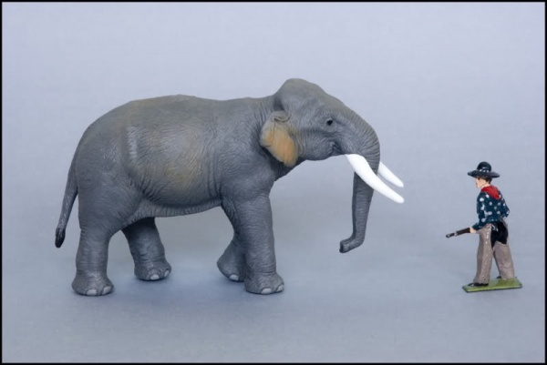 Papo 50131 Asian Elephant scale.jpg